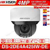 Pre-sale Hikvision Original PTZ IP Camera DS-2DE4A425IW-DE 4MP 4-100mm 25X zoom Network POE H.265 IK10 ROI WDR DNR