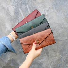 New Three Fold Long Wallet Women Luxury Brand Leather Coin Purse Soft Skin Hasp Clutch Female Money Bag Hand Credit Card Holder women wallets brand baellerry pu leather hasp zipper clutch female money cash bag wallet credit id card holder purse billetera