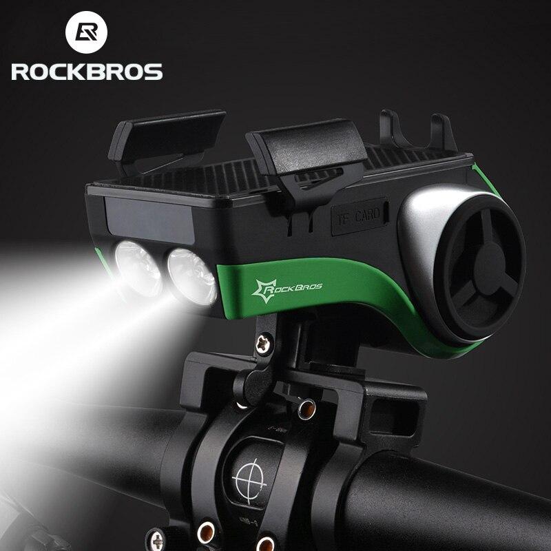 ROCKBROS Bluetooth аудио mp3-плеер динамик водонепроницаемый 5 в 1 велосипедный компьютер телефон Holder4400mAh Power Bank Bell велосипедный светильник