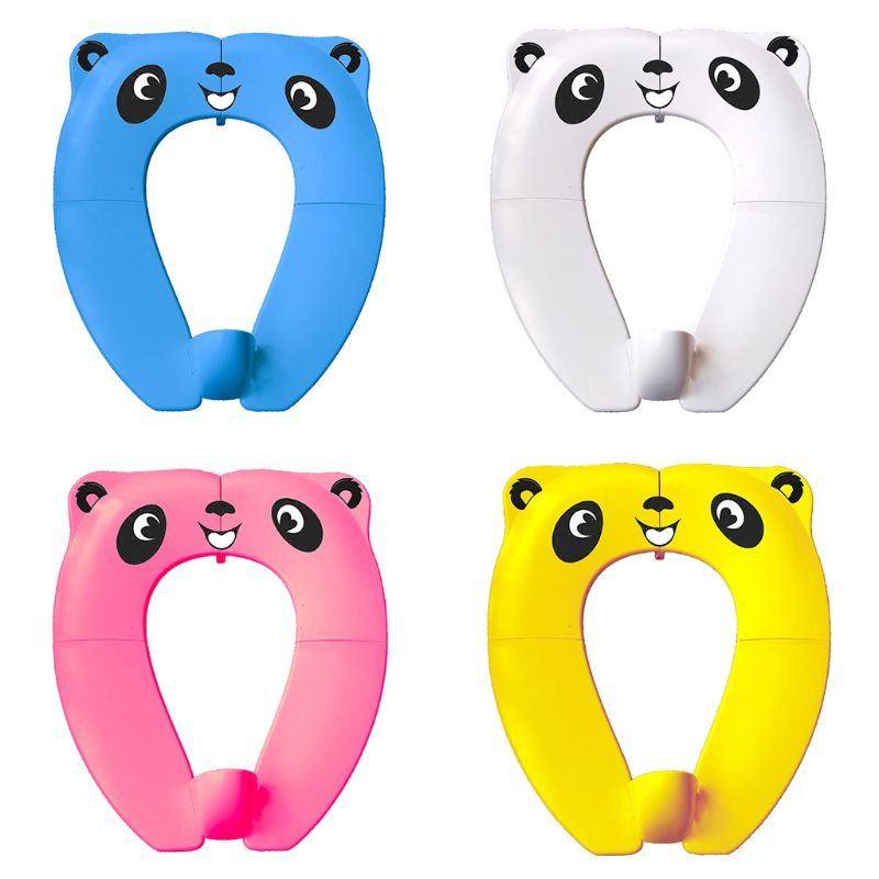 Foldable Potty Seat For Toddler Travel Non-Slip Reusable Toilet Training Seat B36E