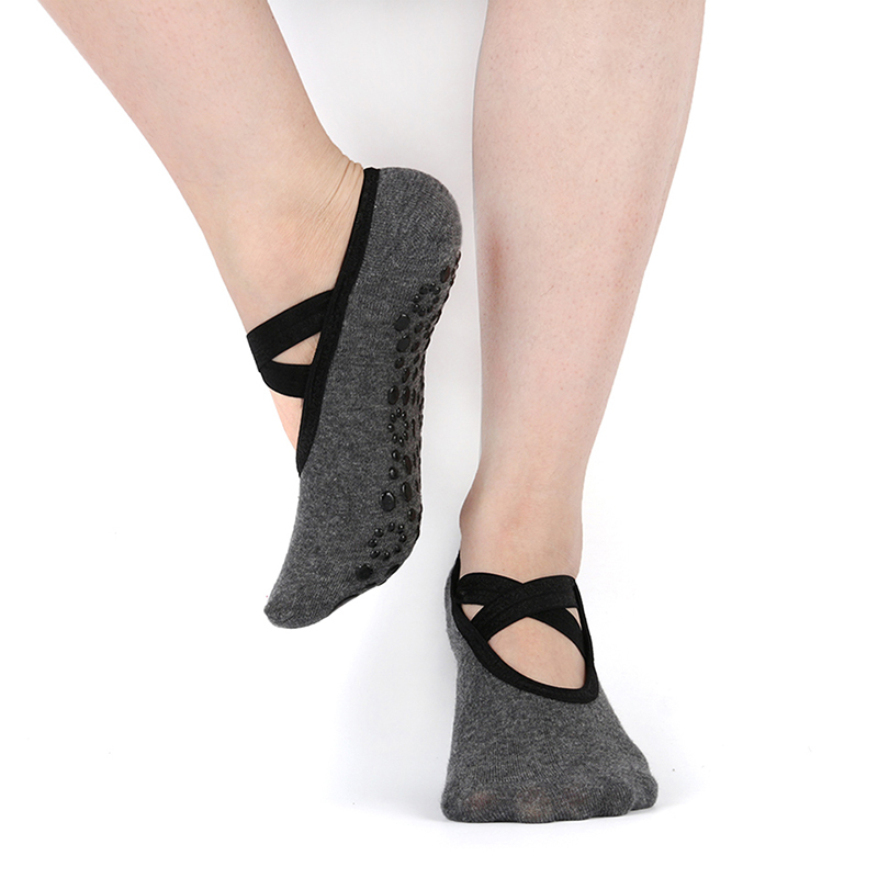 Women Non-Slip Yoga Socks For Backless Fitness Pilates Breathable Ballet Foot Scoken Ladies Sport Gym Sock Dance Slippers