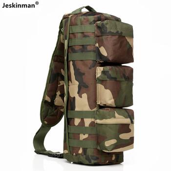 Outdoor Jungle Camo polowanie wędkarstwo 18L pojedyncza torba na ramię wodoodporna tkanina Oxford poręczny taktyczny CS gry plecak na rower tanie i dobre opinie Jeskinman CN (pochodzenie) Na polowanie
