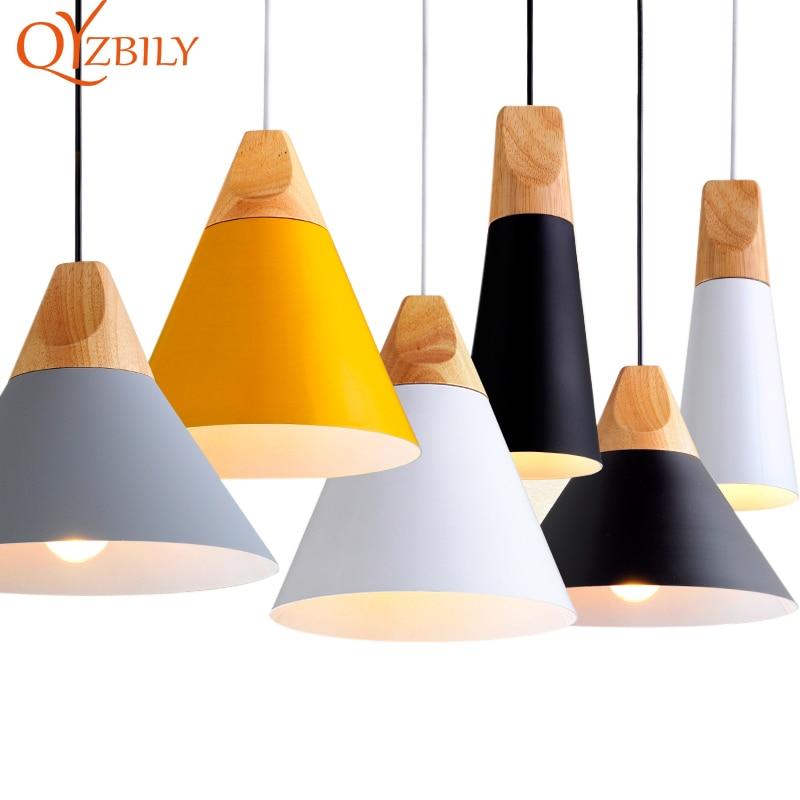 Lampes suspendues Lustres Abajur suspension Luminaire lampe à main coloré en aluminium abat-jour pour éclairage à la maison salle à manger Lampsha