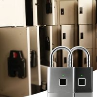 Car Fingerprint Padlock Cabinet Lock Small Lock Dormitory Bag Small Lock Pure Fingerprint Lock