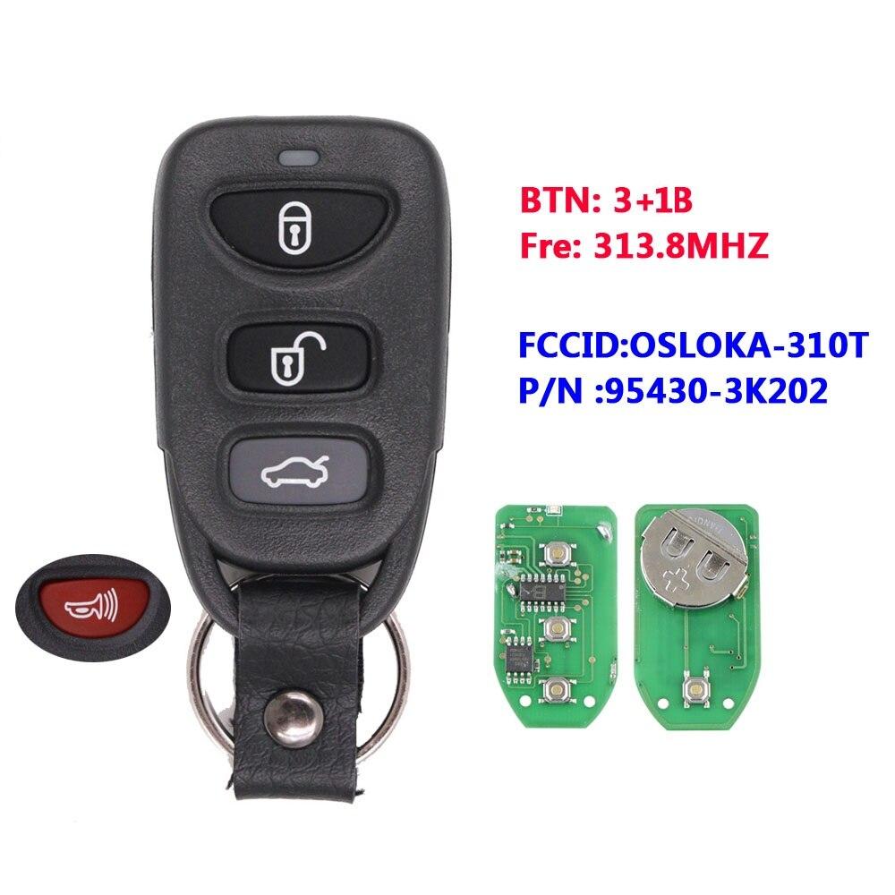 3 + 1 кнопки 315 МГц для Hyundai Sonata Elantra 2006-2010 FCC, аддитивного цветового пространства: OSLOKA-310T