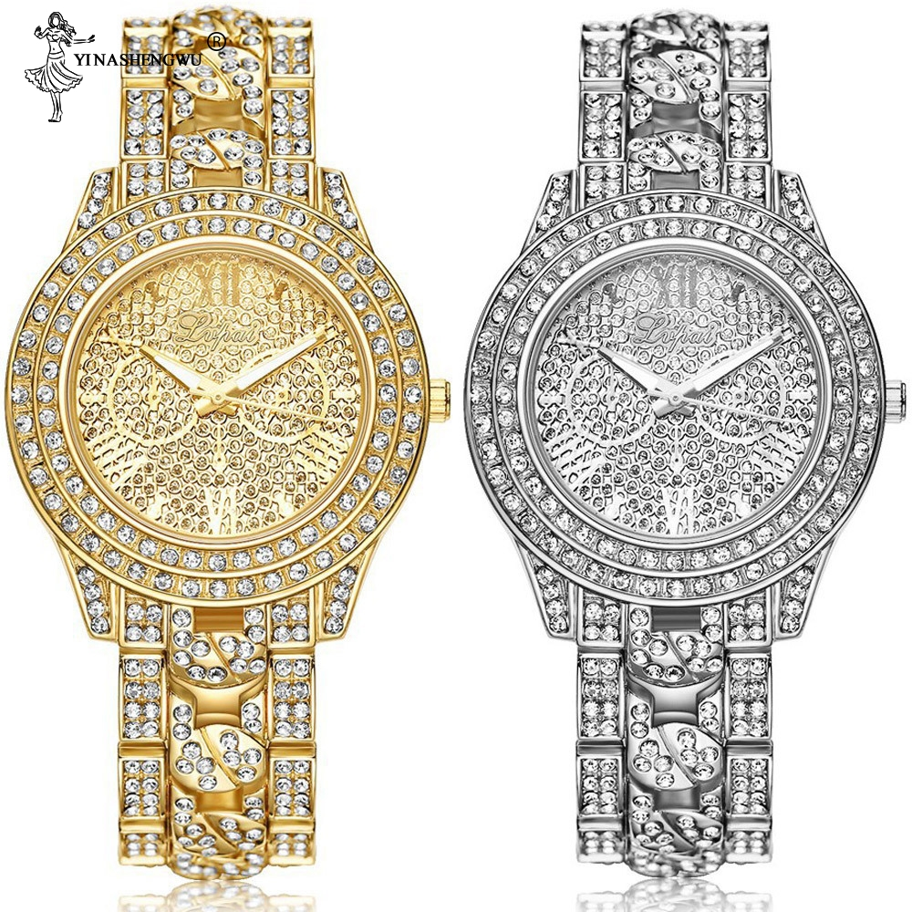 Hip Hop Luxury Mens Iced Out Watches Date Quartz WristWatches With Micropave Rhinestones For Unisex Jewelry Accessories Alloy