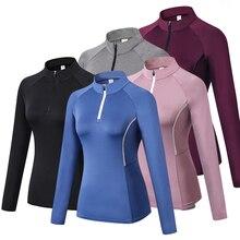 """Зимняя спортивная фуфайка для бега, женские куртки для бега, фитнеса, спортивного зала, пальто на молнии, плотная Йога для бега футболка """"Велоспорт"""""""