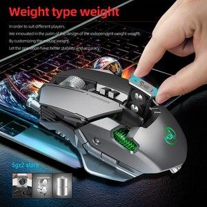 Image 4 - HXSJ 6400 DPI USB Wired תחרותי Gaming Mouse 7 לחצנים לתכנות מכאני הגדרת מאקרו תכנות משחק עכברים