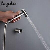 Schwarz und gebürstet nickel Handheld Bidet Wc Edelstahl Wand-Montiert Einfach zu Installieren Bad Bidet Sprayer Set