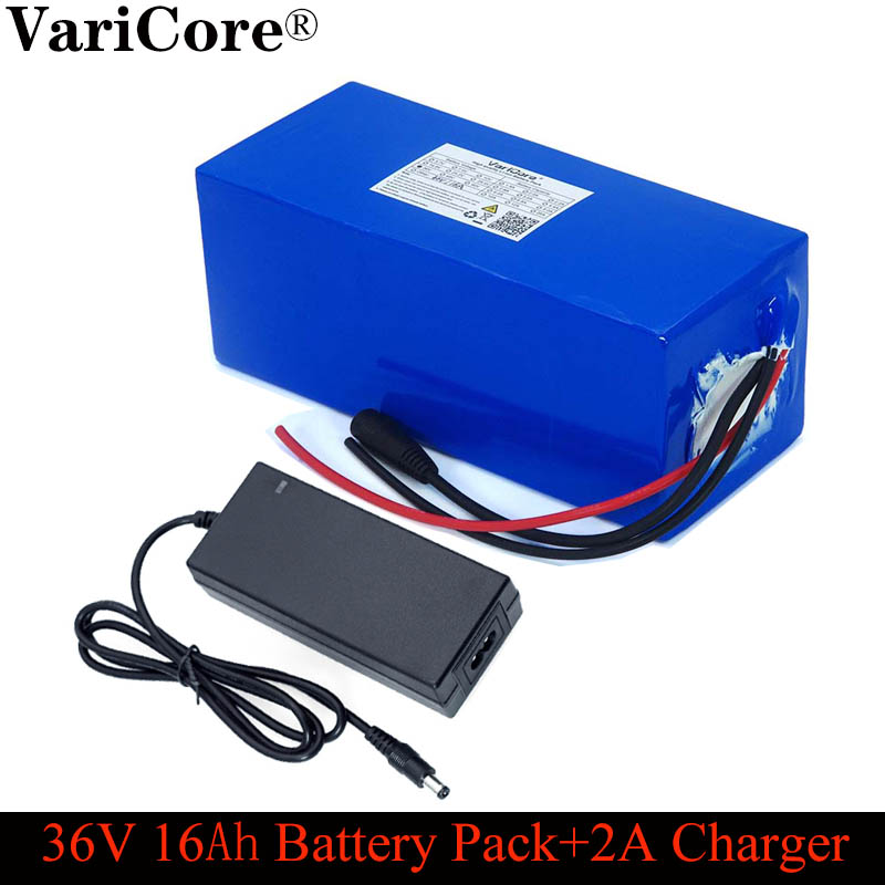 VariCore 36V 16ah 18650 lithium Battery pack and bms protection 16000mAh backup power supply + 42V 2A charger
