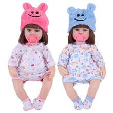 42cm Reborn Infants Dolls Vinyl Full Body Lifelike Baby Dolls for Children Gift