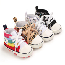 Unisex Baby Shoes Winter First Shoes Baby Walkers Toddler First Walker Baby Girl Kids Soft Rubber Sole Baby Shoe Anti-slip cheap CN(Origin) Canvas Cross-tied Spring Autumn Lace-Up Animal Prints Fits true to size take your normal size