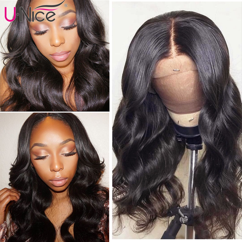 """Hb0d4ef505adb4adcb959a57032383d467 Unice Hair 360 Lace Frontal Wig Brazilian Remy Body Wave Wigs 10-26"""" Human Hair Wigs For Black Women Pre Plucked With Baby Hair"""