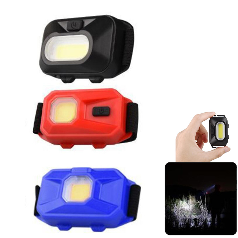 Powerful Mini LED COB Headlight  Headlamp Small 3 AAA Frontal Flashlight For Outdoor Fishing Head Light Lamp Torch Torchlight