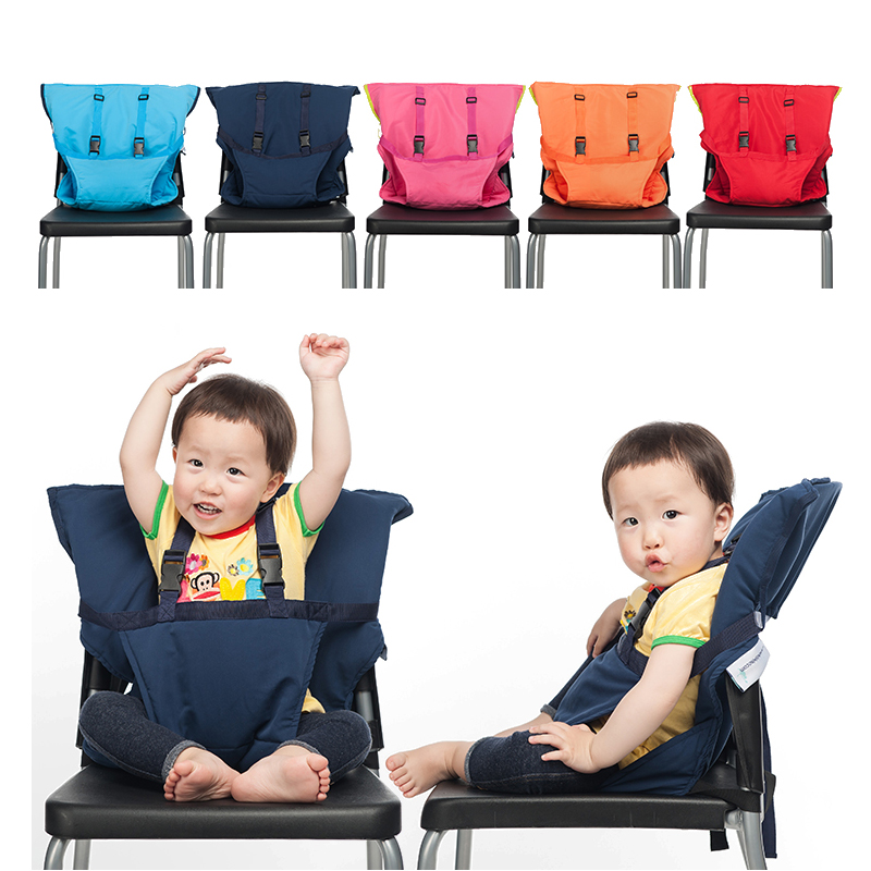 Waterproof Baby Chair Portable Infant Seat Carrier Travel Dining Lunch Chair Safety Belt Feeding High Chair Harness Baby Seat