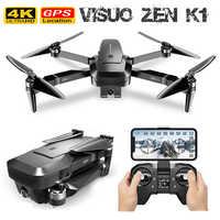 Drone GPS VISUO ZEN K1 RC avec Zoom 50 fois grand Angle HD double caméra WIFI FPV quadrirotor moteur sans balai vol 28min Drone 4K