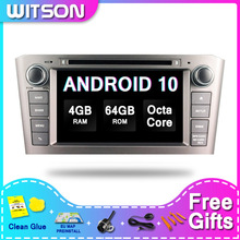 ¡DE Stock! Android WITSON 10,0 Auto radio 2 din para TOYOTA AVENSIS 2005-2007 PX5 Octa-Core 4 + 64GB