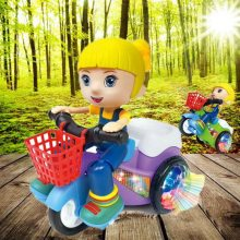 CYSINCOS Kids Toys Car Children Birthday Christmas Gifts Child Electric Toys Car Model Musical Toys Dance Doll LED Light Toys(China)