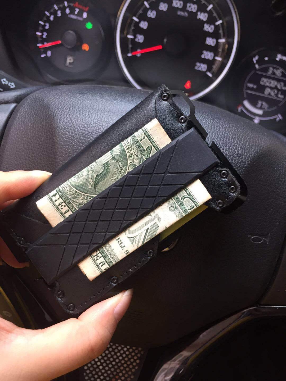 Blocking Aluminum Metal Leather Bifold Genuine Tactical Wallet