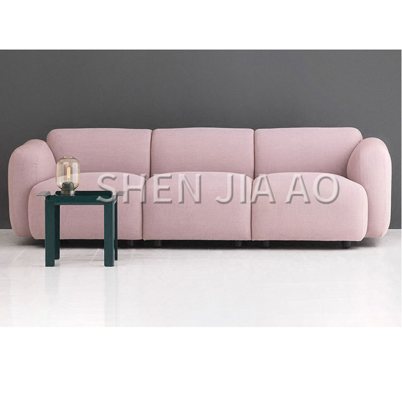 Sofa Footstool Set Nordic Style Modern Casual Cotton Creative Shape Potato Sofa Footstool Removable Living Room Sofa Footstool