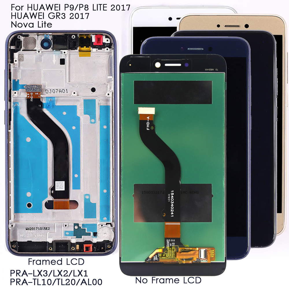 Display For <font><b>Huawei</b></font> P8/P9 Lite <font><b>2017</b></font> Lcd Display Touch <font><b>Screen</b></font> Replacement for <font><b>Huawei</b></font> <font><b>GR3</b></font> <font><b>2017</b></font>/Nova Lite LCD PRA-LA1/LX1/LX3 <font><b>Screen</b></font> image