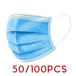 Surgical Mask 50/100Pcs 3-Ply Anti-Dust Disposable Surgical Medical Salon Earloop Face Mouth Masks