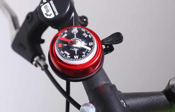 2019 マウンテンバイクのコンパスベル警報ホーン屋外サイクリングハンドルベルリング合金自転車アクセサリーサイクリングベルリング
