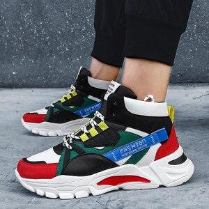 Image 2 - 2020 מותג אופנה גברים של נעליים יומיומיות נוח זכר נעליים חיצוני נעלי ספורט גברים פנאי שטוח Chaussure Homme גבוהה למעלה הנעלה
