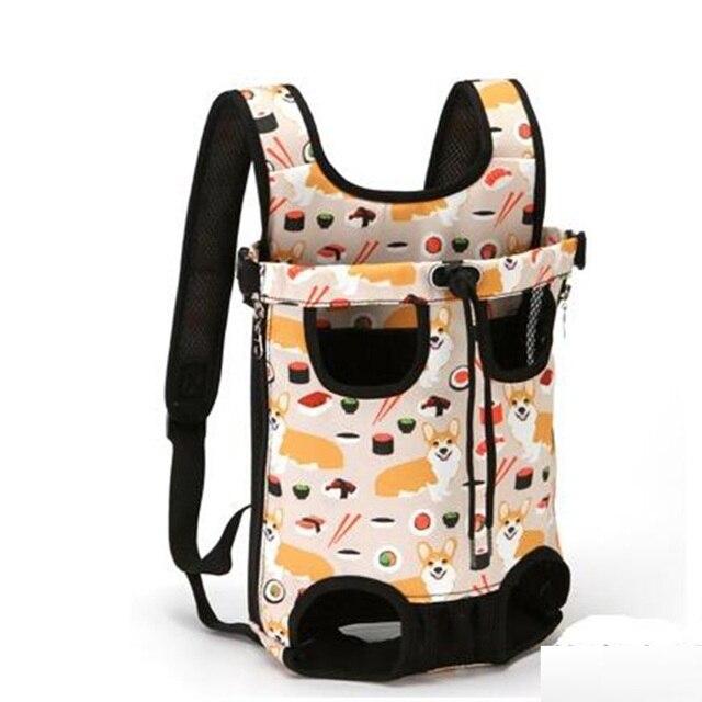 Pet Carriers Bag Dog Carrier Backpack Waterproof Breathable Pet Bag Out Folding Canvas Denim Pet Bag  Pet Supplier