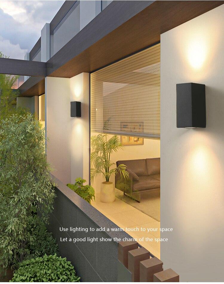 Luz led de parede externa, iluminação para