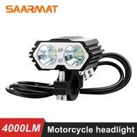 2 قطعة 20 واط 6000 كيلو دراجة نارية led المصباح بقعة ضوء 2x XM L T6 LED الضباب مصباح قيادة مع التبديل LED سكوتر الأضواء 12 فولت 85 فولت على