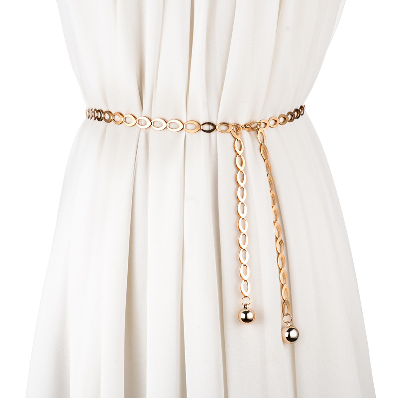 Ms. Thin Belt Waist Chain Fashion Wild Decorative Belt Waist Dress Shirt With A Rope Belt Female Waist Chain