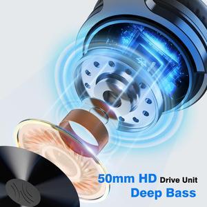 Image 2 - Oneodio auriculares inalámbricos con Bluetooth V5.0, dispositivo con cable, estéreo, para teléfonos y PC