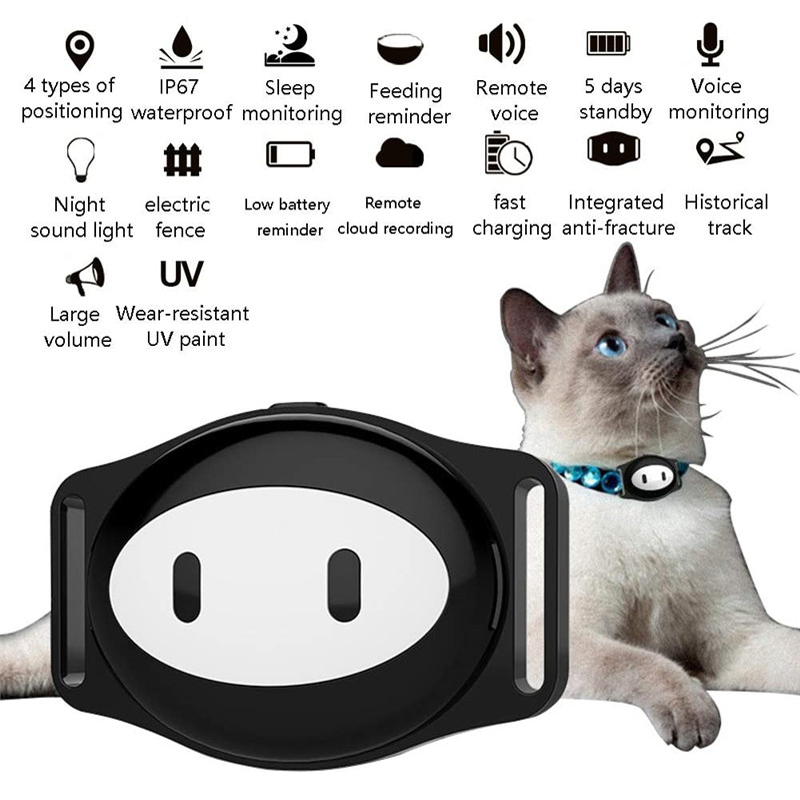 Водонепроницаемый мини-ошейник для домашних животных Gsm Gps смарт-трекер локатор ошейник для собаки кошки длительный режим ожидания бесплат...