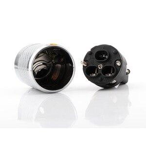Image 5 - Hifi audio Carbon Fiber Rhodiniert Schuko Power Stecker Stecker IEC Buchse