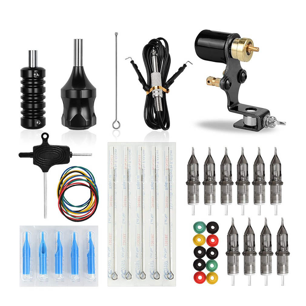 Portable Rotary Tattoo Machine Shader Liner Motor Gun Handle Kit For Artists Professional Tattoo Equipment