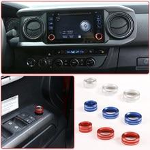 Liga botão de ajuste do espelho retrovisor do carro navegação botão botão volume da tela capa para toyota tacoma 2016-2019 acessórios interiores