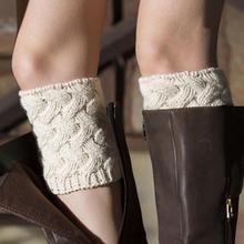 Короткие утолщенные бамбуковые тканые с цветочным узором рождественские гетры носки