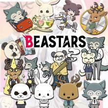 Аниме BEASATRS Beastars Gouhin Legosi Луи Хару косплей милый двойной Рисунок брелок акриловые сумки кулон брелок Рождественский подарок