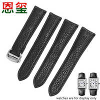 Cow leather watchband 17mm 20mm 23mm black wristband with folding buckle Replacement strap for Cartier Tank Solo man's bracelet