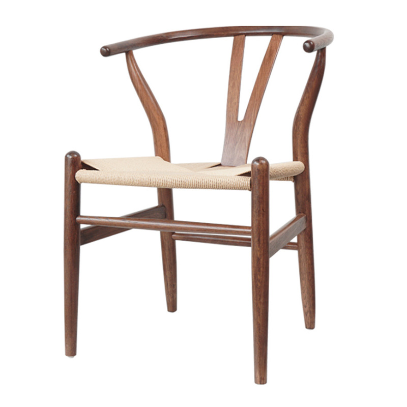 H1 Nordic modern real wood simple dining chair ash wood leisure home backrest wooden chair Kennedy chair Chinese style Y chair|  -