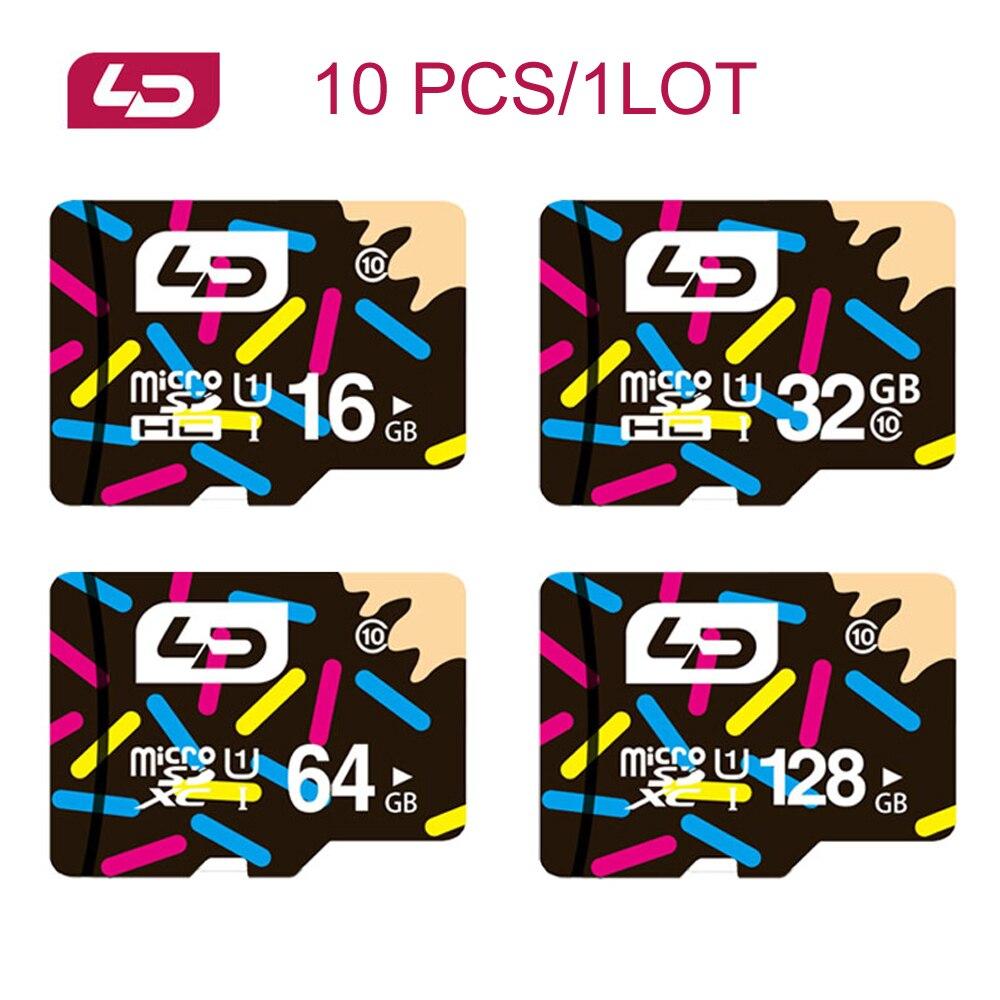10 TEILE/LOS Original LD Micro SD Karte 128GB 64GB 32GB 16GB 8GB Micro SD Speicher karte TF Karte Micro-Karte für Tablet/smartphone