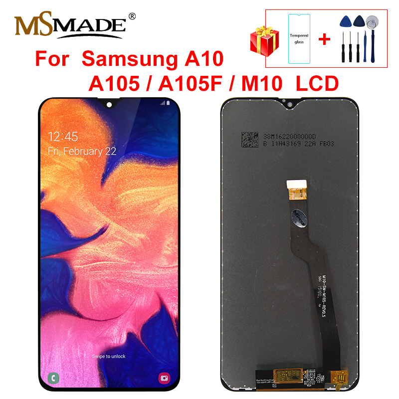 For Samsung Galaxy A10 A105 A105F SM-A105F M10 LCD Display Touch Screen Digitizer Assembly With Frame Replacement Repair Parts