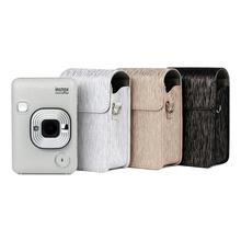 Streaming Light PU Leather Liplay Case Camera Protective Shoulder Bag For Polaroid Fujifilm Instax Mini