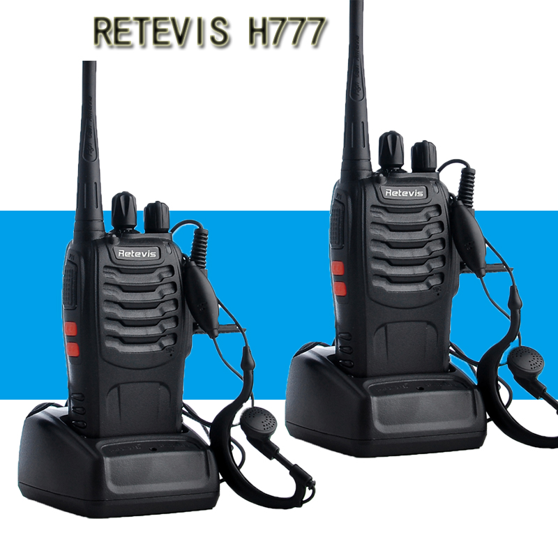2PCS Retevis Civil Use Professional Walkie Talkie Handy Two-Way Radio Station Transceiver Communicator Ham Radio Communicator