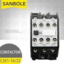 цена на CJX1-16/22 3TB42 AC contactor 2NO 2NC 24V/36V/48V/110V/127V/220V/380V 16A 50HZ/60HZ Original