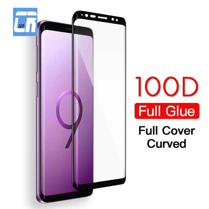 2Pcs 100D Full Glue Cover Curved Protection Tempered Glass For Samsung Galaxy S10 S9 S8 Note 8 9 10 Plus Screen Protector