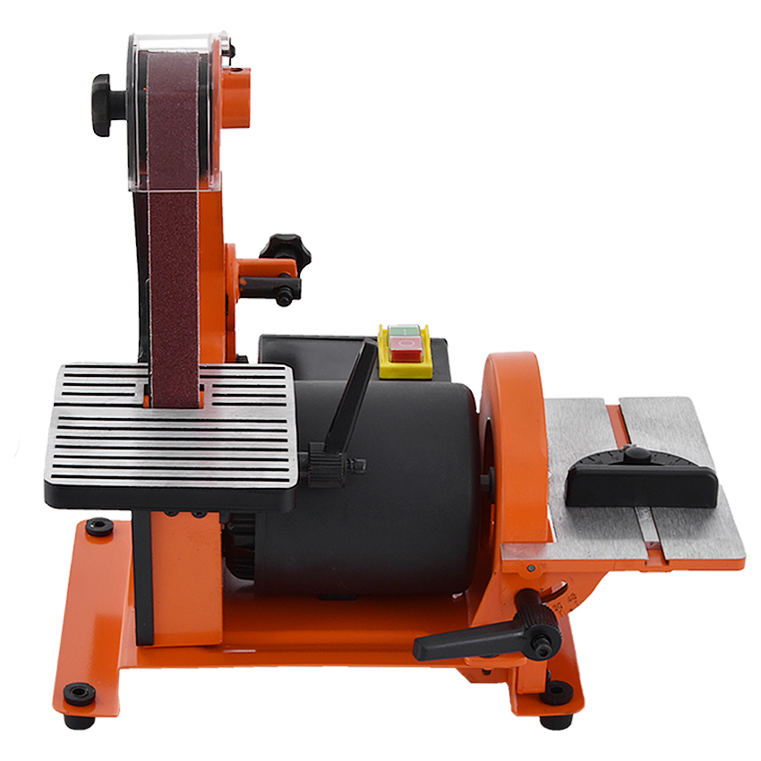New MM4113 Professional Sanding Belt Machine Vertical Woodworking Metal Belt Sander Sanding Machine 220V 350W 2950r/min 762*25mm