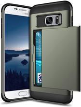 Funda protectora para Samsung Galaxy S7 Edge, carcasa protectora de doble capa para Galaxy S7 S7EDGE, funda tipo billetera con ranura para tarjetas, a prueba de golpes
