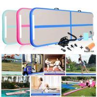 3M 10ft Inflatable Track Mat Gymnastics Mattress Gym Tumble Air Floor Track Yoga Tumbling wrestling Yogo with Electric Air Pump
